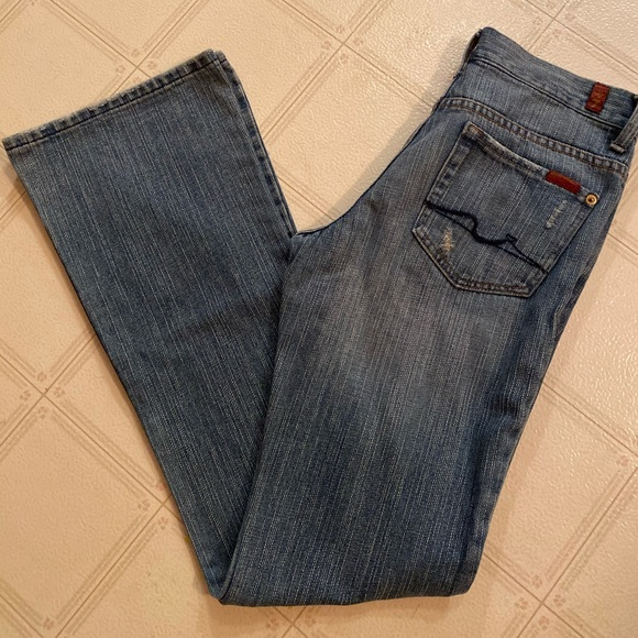 7 For All Mankind Denim - 7 for all mankind Distressed Flare